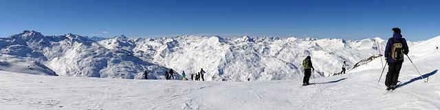 panorama hor při lyžování