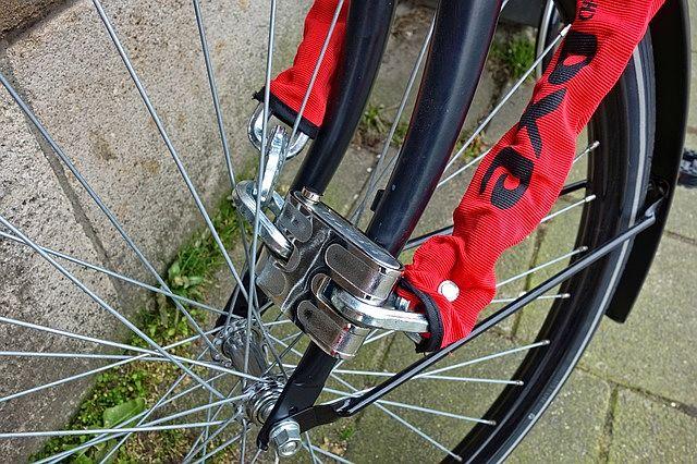 Silný řetězový zámek na kolo