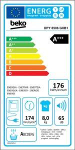 Energetický štítek sušičky