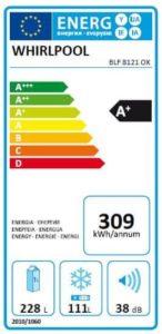 Energetický štítek lednice