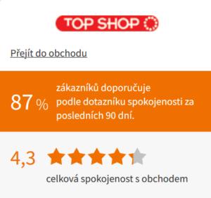 hodnocení eshopu Topshop.cz od Heureka.cz