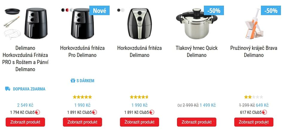 Ukázka sortimentu TopShop.cz