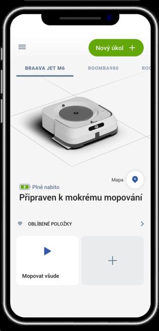 Aplikace - ovládání Braava Jet M6